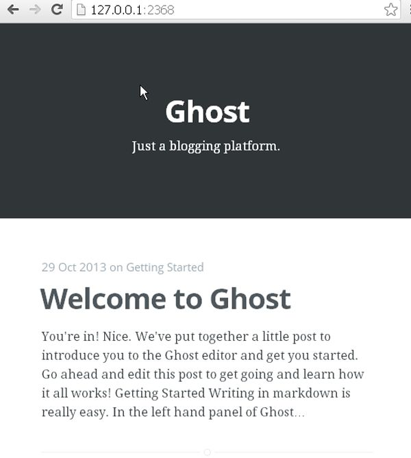 How to Install Ghost on Windows