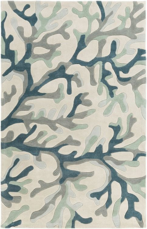 Plush, durable and affordable, the under-the-sea inspired Teal-Grey Coral Reef area rugs are sure to be a welcome addition to any room, creating warmth and softness at your beach home.
