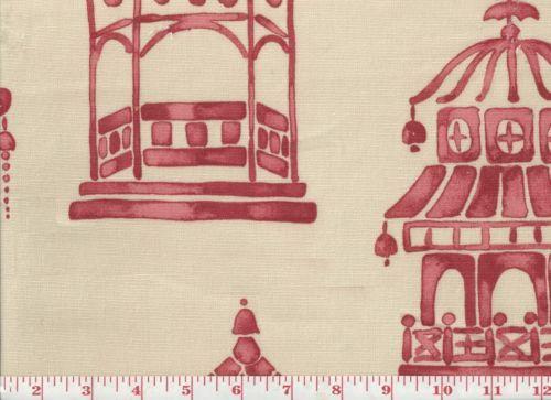 Asian-Inspired-P-Kaufmann-Cotton-Drapery-Upholstery-Fabric-Ming-Pagoda-CL-Blaze