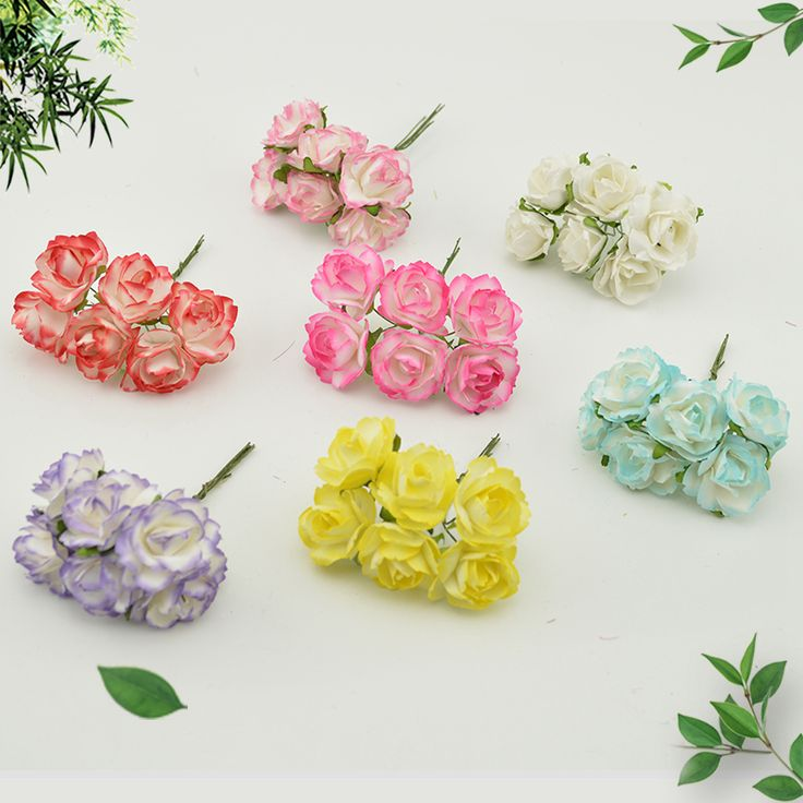 Cheap flowers scrapbooking, Buy Quality rose artificial directly from China roses artificial flowers Suppliers: 6pcs Cheap Paper Rose Artificial Flowers scrapbooking For wedding car decoration handicraft DIY Gift box wreath material fake