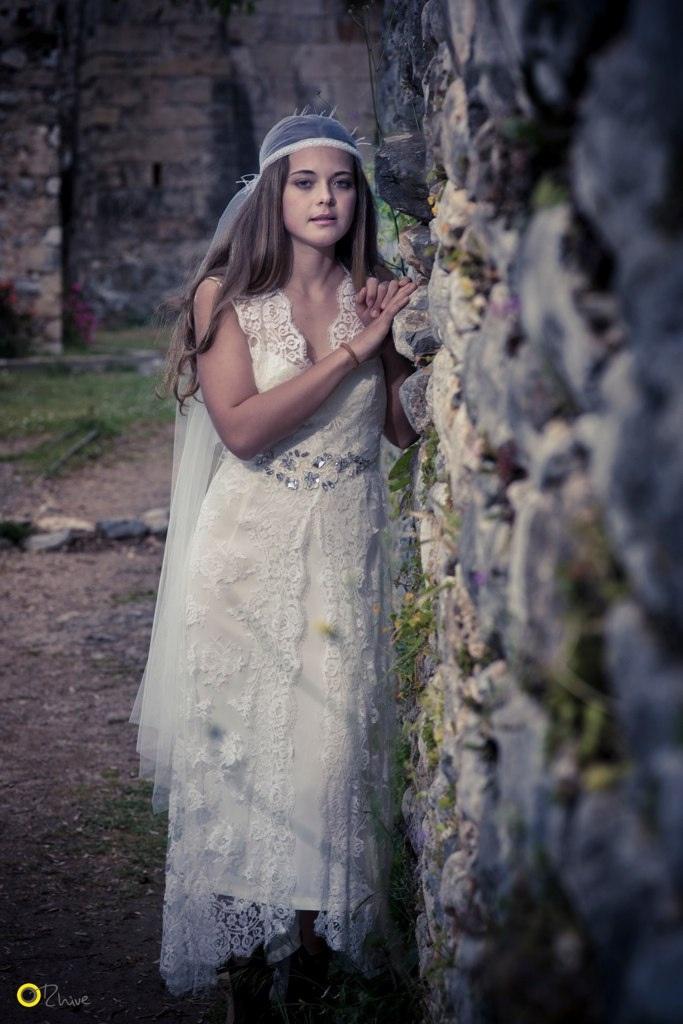 Cleodora Veil with Arethusa Sash - Nymphi Design Bridal Accessories