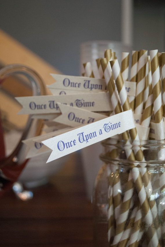 I threw an elegant Disney themed bridal shower for a friend and these straw flags were the perfect detail. I love small touches of any classic theme. These would also be great for a birthday party or any Disney themed event. They're even available in different colors!