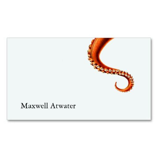 The 13 best fun customizable novelty business cards images on cool octopus tentacles science fiction writer business card reheart Images