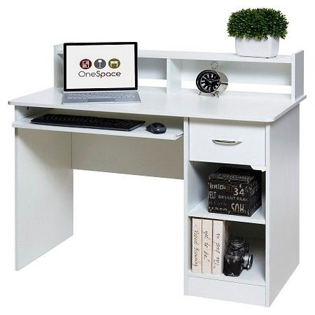 Onespace 50 Ld0101 Essential Computer Desk Hutch Pull