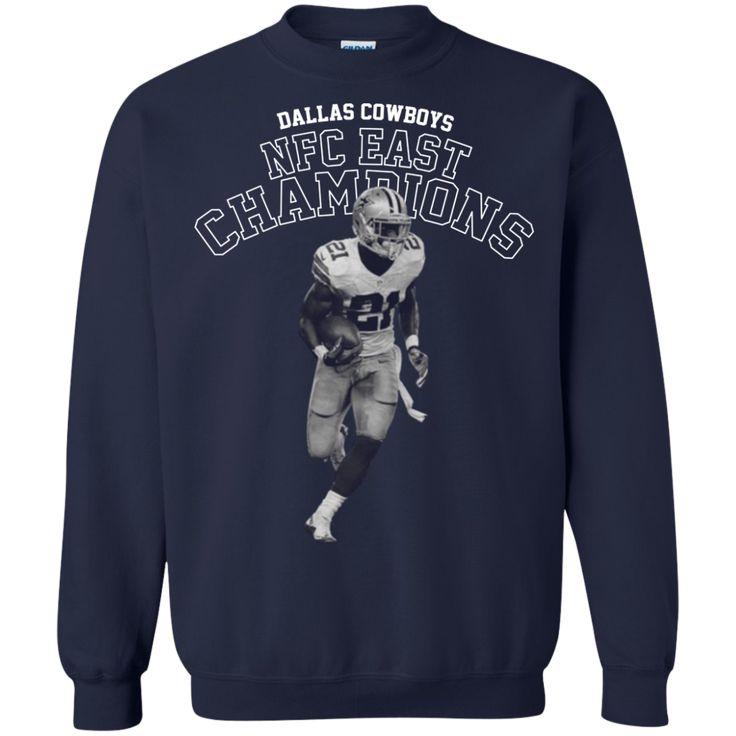 Dallas Cowboys T-shirts NFC East Champions Shirts Hoodies Sweatshirts - Blue Fox