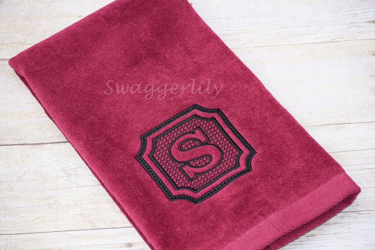 Embossed Monogrammed Hand Towel - pinned by pin4etsy.com