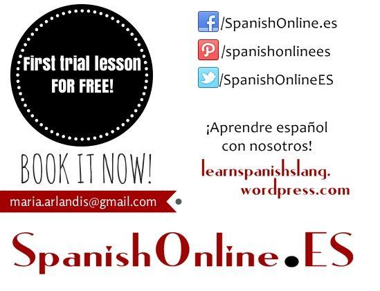 ¡Aprende español con nosotros! Entra en SpanishOnline.ES y reserva tu primera clase gratis.