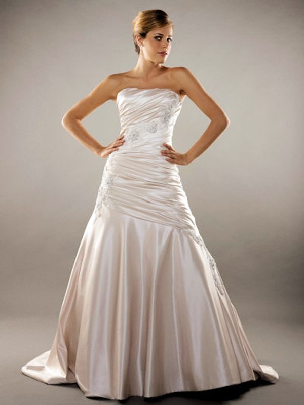 46 best Satin Wedding Dresses images on Pinterest | Wedding dressses ...