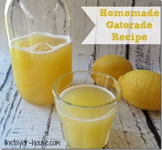 Make your own Homemade Gatorade Recipe this cold and flu season!  Or use it for your kids after sports re-hydration!  Such an easy recipe to make!