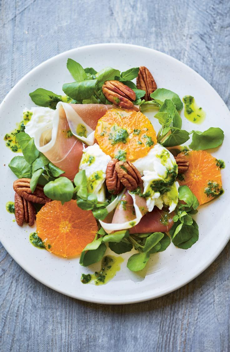 Looking for an alternative starter for Christmas? Try this seasonal clementine, mozzarella & parma ham salad.