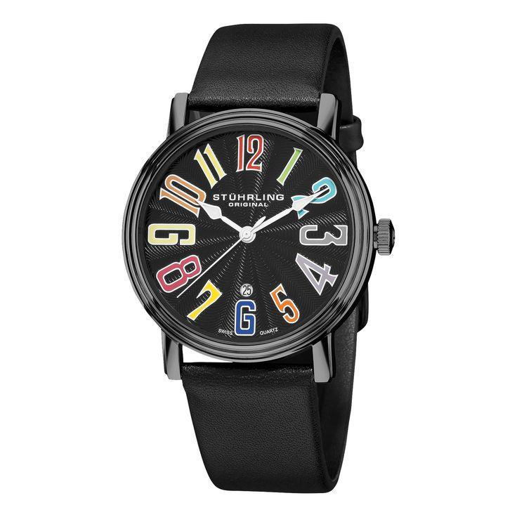 Stuhrling Original Men's Roulette Swiss Quartz Strap Watch