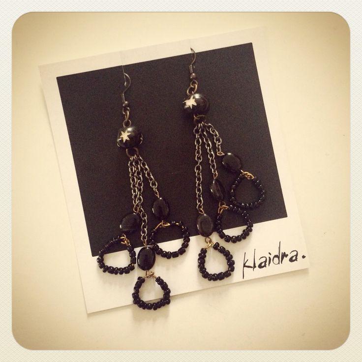 Klaidra *drops* earrings #klaidra #beaded #earrings #newcollection #ethnic #gypsy #bohemian #fw15 #greekdesigners #polaroid #handmade #jewelry #klaidrajewelry