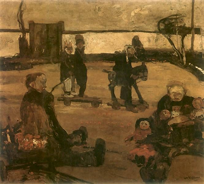 Cyrk wariatów.   1906. Olej na płótnie. 90 x 100 cm.   Muzeum Narodowe, Warszawa.