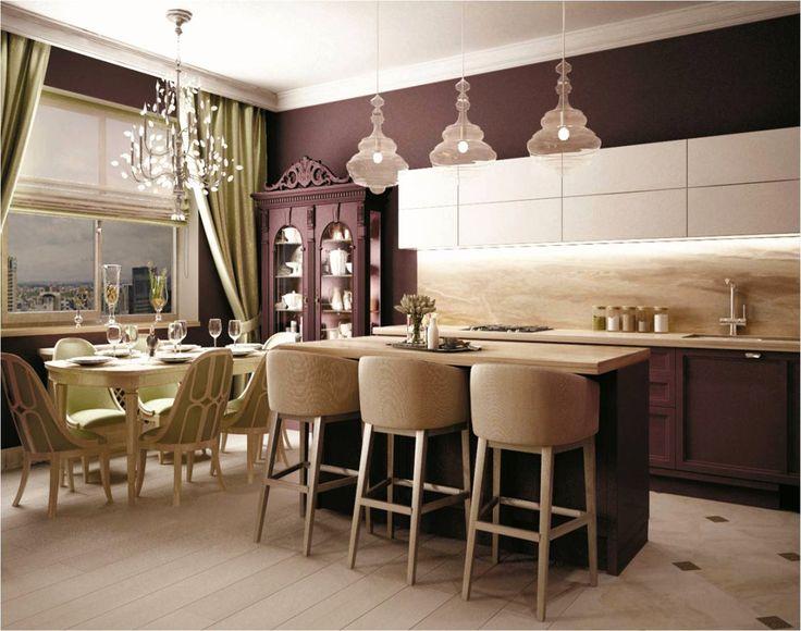 Neoclassical Style Kitchen By Victoria Golubenko Interior Design Course Student In European School Kiev Ukraine