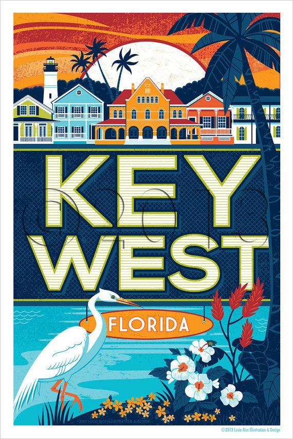 Key West est un des endroits plus beaux et uniques aux États-Unis Apportez cette destination voyage incroyable à la maison avec une 11 X 17 impression avec architecture colorée et beauté tropicale. Cette affiche est imprimée sur carte couché lourd avec une bordure de 1/2 pouce. Veuillez noter que filigrane du droit dauteur est pour affichage sur le web uniquement.