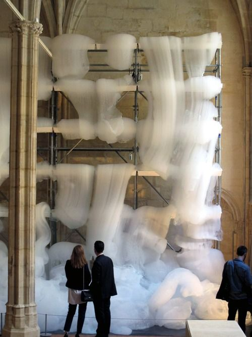 An Installation That Fills A Monastery With Nothing But Foam