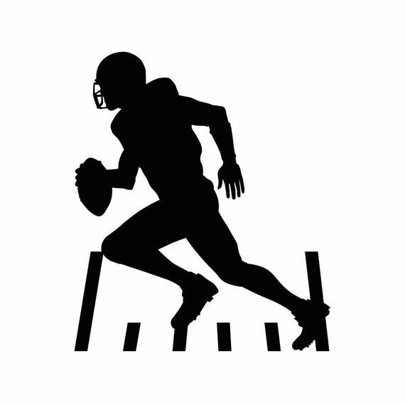 Football Player Instant Download 1 Vector Eps Svg A Png Etsy In 2021 Football Silhouette Football Player Drawing Football Senior Pictures