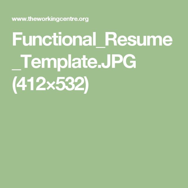 1000+ Ideas About Functional Resume Template On Pinterest
