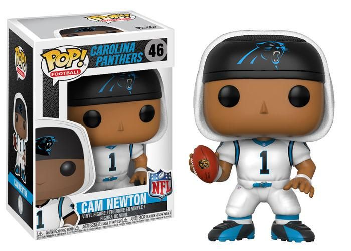 POP! NFL # 46: Carolina Panthers: CAM NEWTON (White)