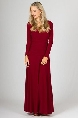 Avery Maxi Dress - Sangria by Paper Scissors Frock