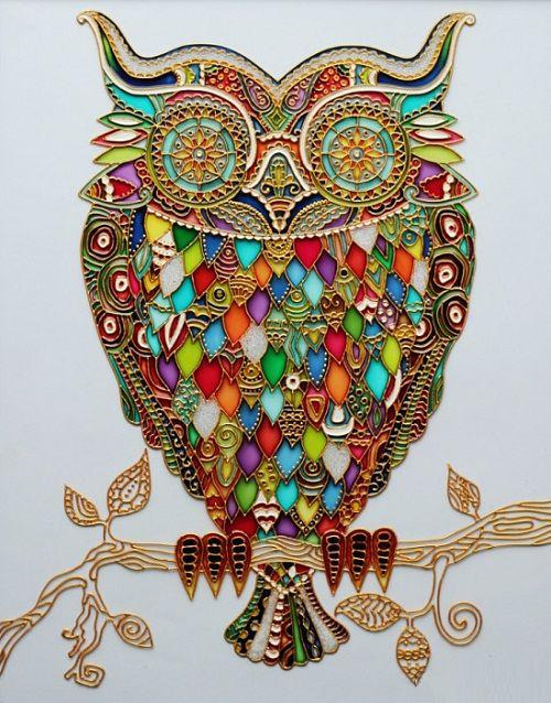 Stained glass art by Julia Slepchenko - Viola.bz
