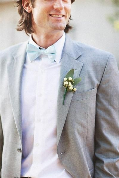 Серый костюм жениха