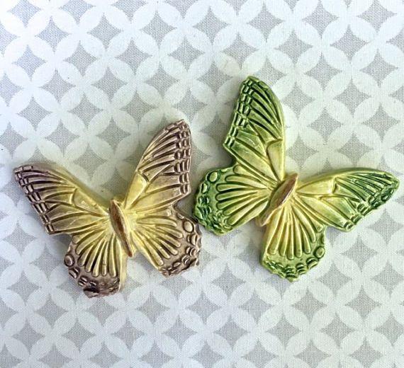 2 Gorgeous Butterflies  Ceramic Tiles  Mosaic Supply