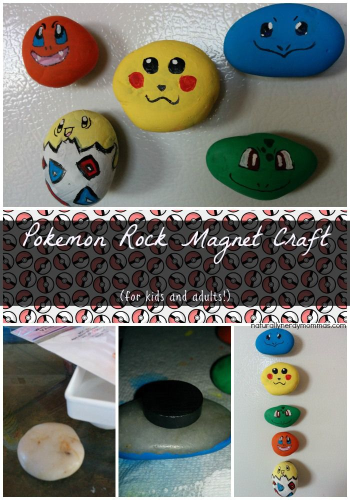 DIY Pokemon Craft: Pokemon Rock Magnets! |