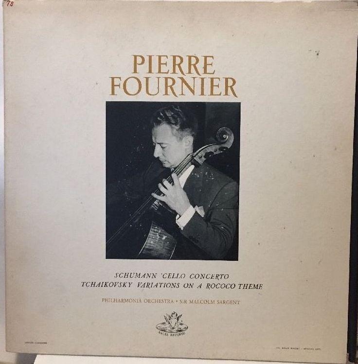 Pierre Fournier Schumann / Tchaikovsky Sargent Philharmonia LP Angel S 35397 VG+ #Concerto
