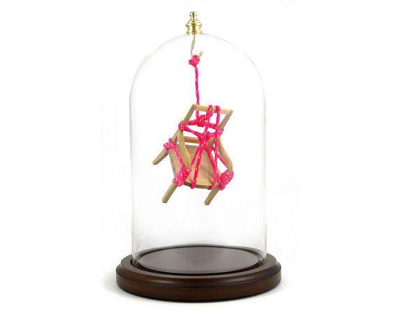 Serial Bondage 9 by Kennedy James - miniature art installation - $400 on #etsy: Shibari Rope, Japanese Shibari, Chairs, James D'Arcy, Art Installations, Chair Shibari, Miniature, Ancient Art