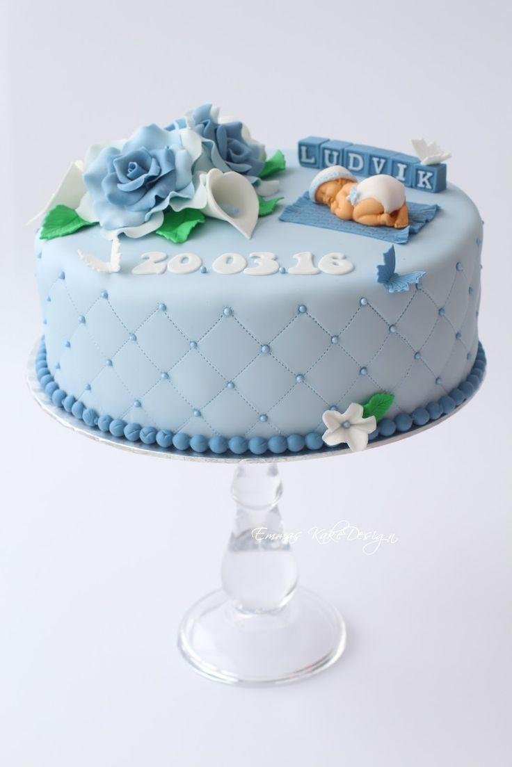 Emmas KakeDesign: Dåpskake med roser og Calla liljer!