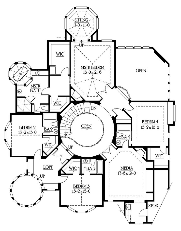 home plans homepw05058 - 5,250 square feet, 4 bedroom 4 bathroom
