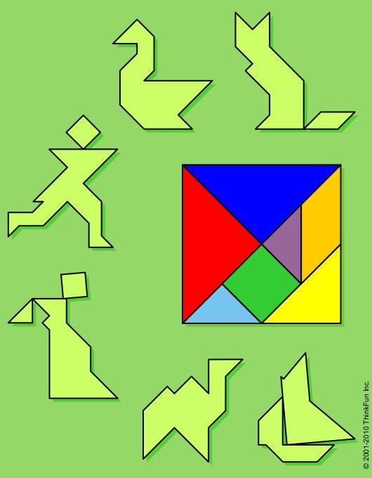 Puzzle Playground - The Tangram. printable brainteaser