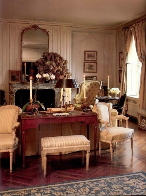 Jackie Onassis Living Room Apartment French Amp British