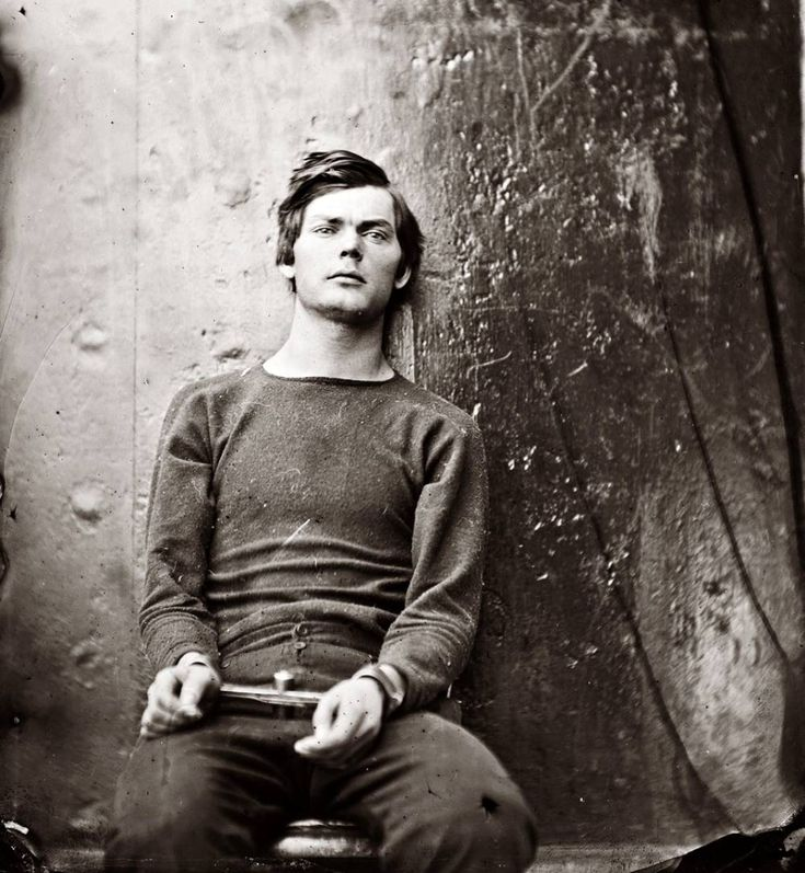 Lincoln assassination conspirator Lewis Powell. Really striking photograph, almost looks like a Calvin Klein add