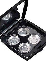 4 placas de espejo caja vacía magnética para sombra de ojos