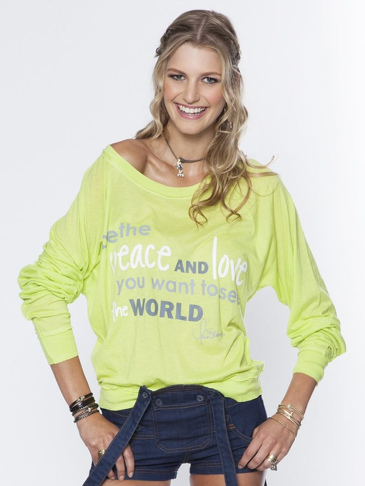Be The Peace And Love You Want To See In The World Keylime Tissue Oversized Raglan