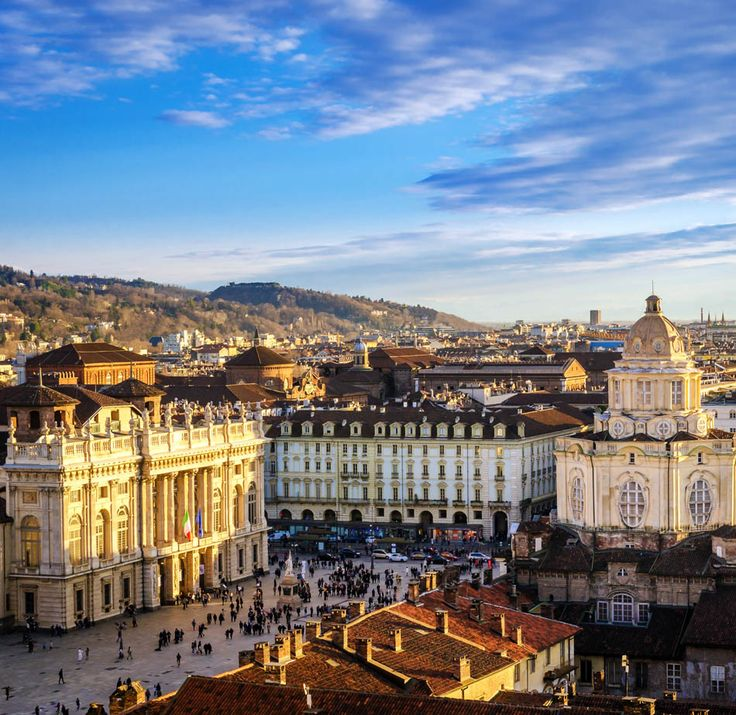 Turin (Torino), panorama from the Cathedral bell tower   |  45 Reasons why Italy is One of the most Visited Countries in the World
