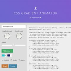 CSS GRADIENT ANIMATOR - A CSS generator to create beautiful animated gradients for use on your website.