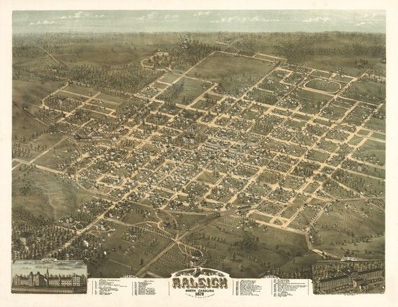 Raleigh North Carolina in 1872 with township data https://www.etsy.com/listing/68508591/vintage-map-raleigh-north-carolina-1872 #Raleigh #NorthCarolina