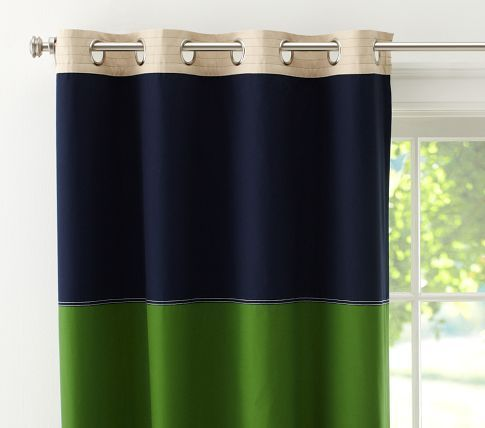 Rugby Blackout Panel | Pottery Barn Kids- Copycat this.