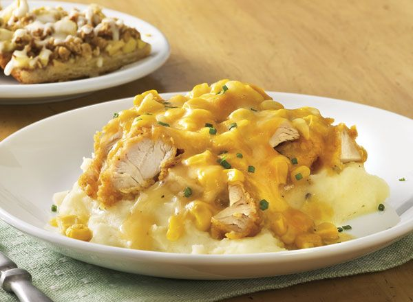 Homestyle Chicken Tender Bake With Apple Streusel Pizza from Publix Aprons
