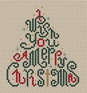 Christmas Wishes cross stitch pattern