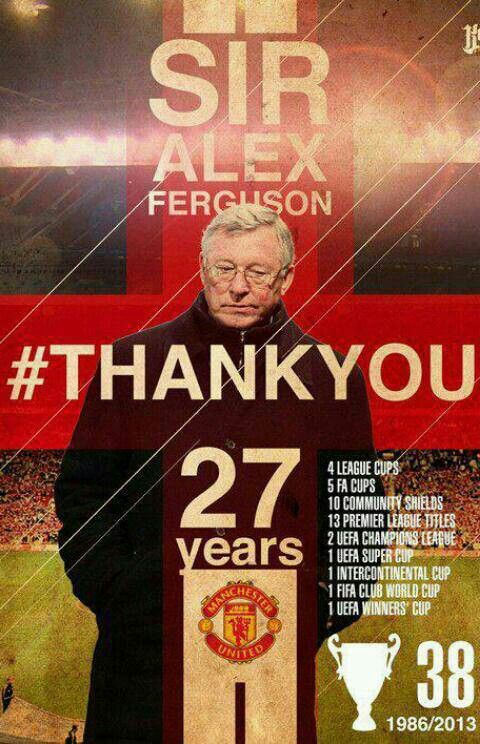 Sir Alex Ferguson-proud and pleased..... Alex Ferguson and his assistant Archie Knox arrived from Aberdeen on the day of Atkinson's dismissal and guided the club to an 11th-place finish in the league.Despite a second-place finish in 1987–88, the club was back in 11th place the following season. The following season, Manchester United claimed its first Cup Winners' Cup title and competed in the 1991 UEFA Super Cup, beating European Cup holders Red Star Belgrade 1–0 in the final at Old…