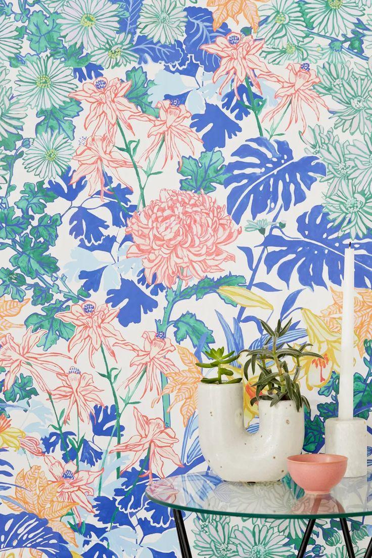 Stick On Wallpaper, Bold Wallpaper, Tropical Wallpaper, Print Wallpaper, Vinyl Wallpaper, Temporary Wallpaper, Chinoiserie Wallpaper, Wallpaper Decor, Wallpaper Ideas