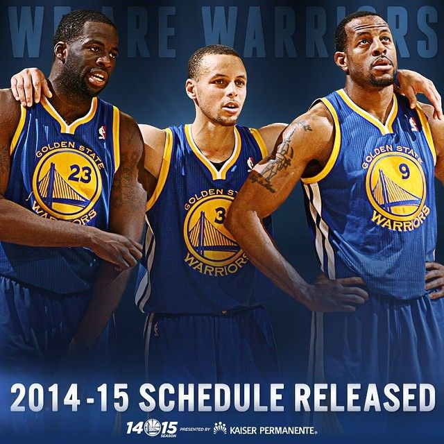 OFFICIAL: The #Warriors 2014-15 schedule has been unveiled! Who's ready? Golden State will open the 2014-15 season in Sacramento on October 29, with the team's home opener coming vs. the Lakers on November 1. Full details & ticket information at warriors.com/schedule