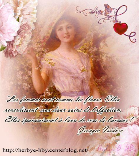 Vintage: Les femmes sont comme les fleurs... (Citation-lady...)