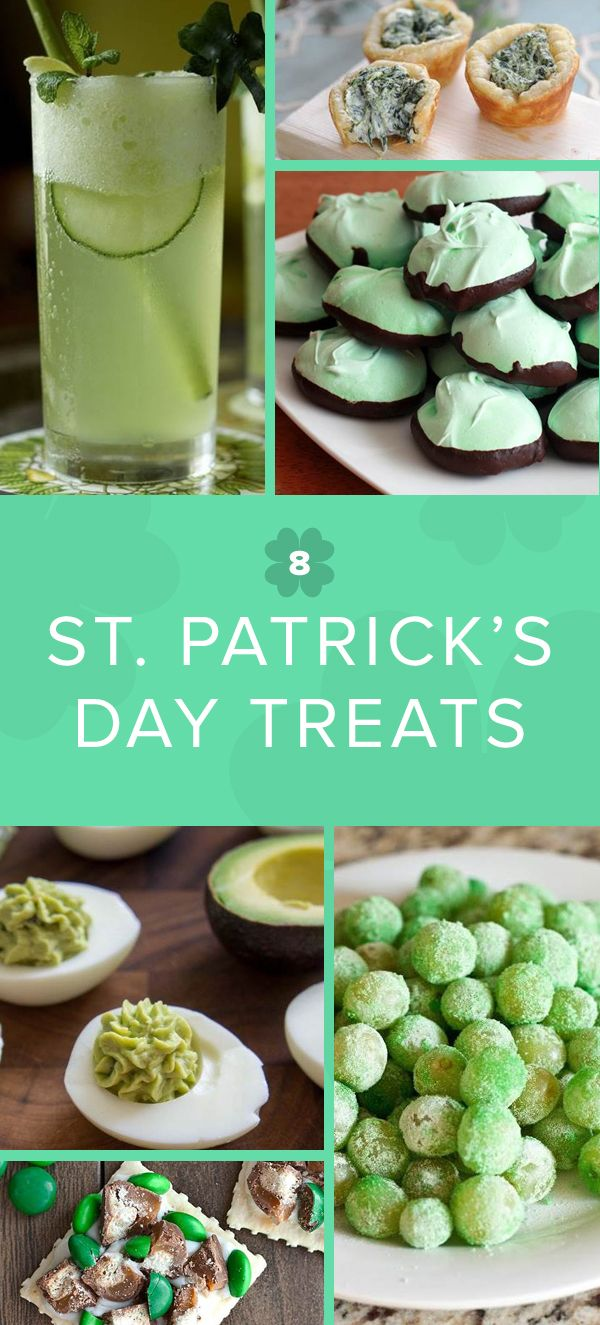 Sour Patch grapes, guacamole deviled eggs and other festive green snacks for your St. Patrick's Day party.