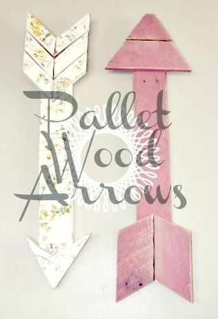 Pi Beta Phi arrows out of wood pallets #piphi #pibetaphi
