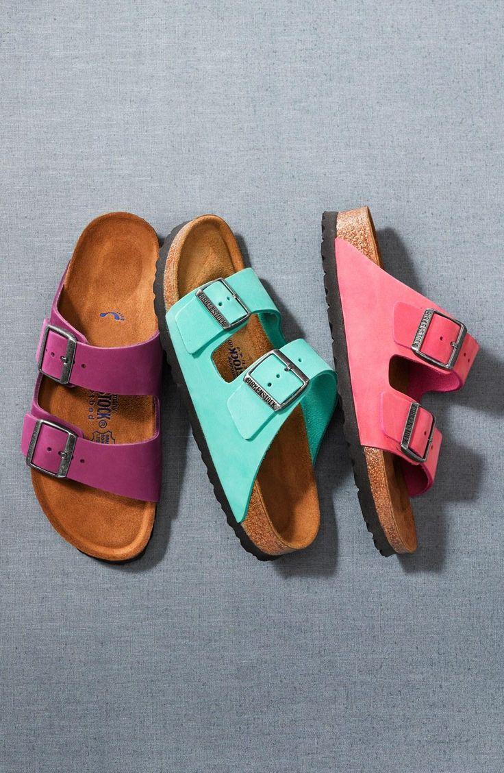 Bright Birkenstock sandals for summer
